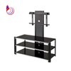 cheap tempered glass tv stand for flat screens