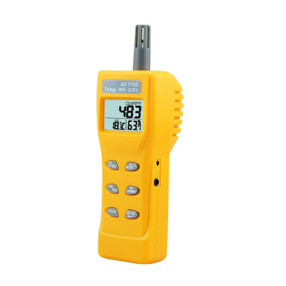 Az 7755 Air Quality Monitor Oem Handheld Co2 Meter Portable Temperature  Humidity Tester Digital Carbon Dioxide Detector - Buy Co2 Meter,Carbon  Dioxide