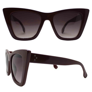 Wholesale Hot Sunglasses Fashion Big Frame Sunglasses Cat Eye Women Sunglasses