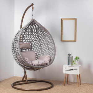 leisure park patio outdoor garden living room indoor indian adult jhoola swing rattan wicker hanging egg chair for the dacha
