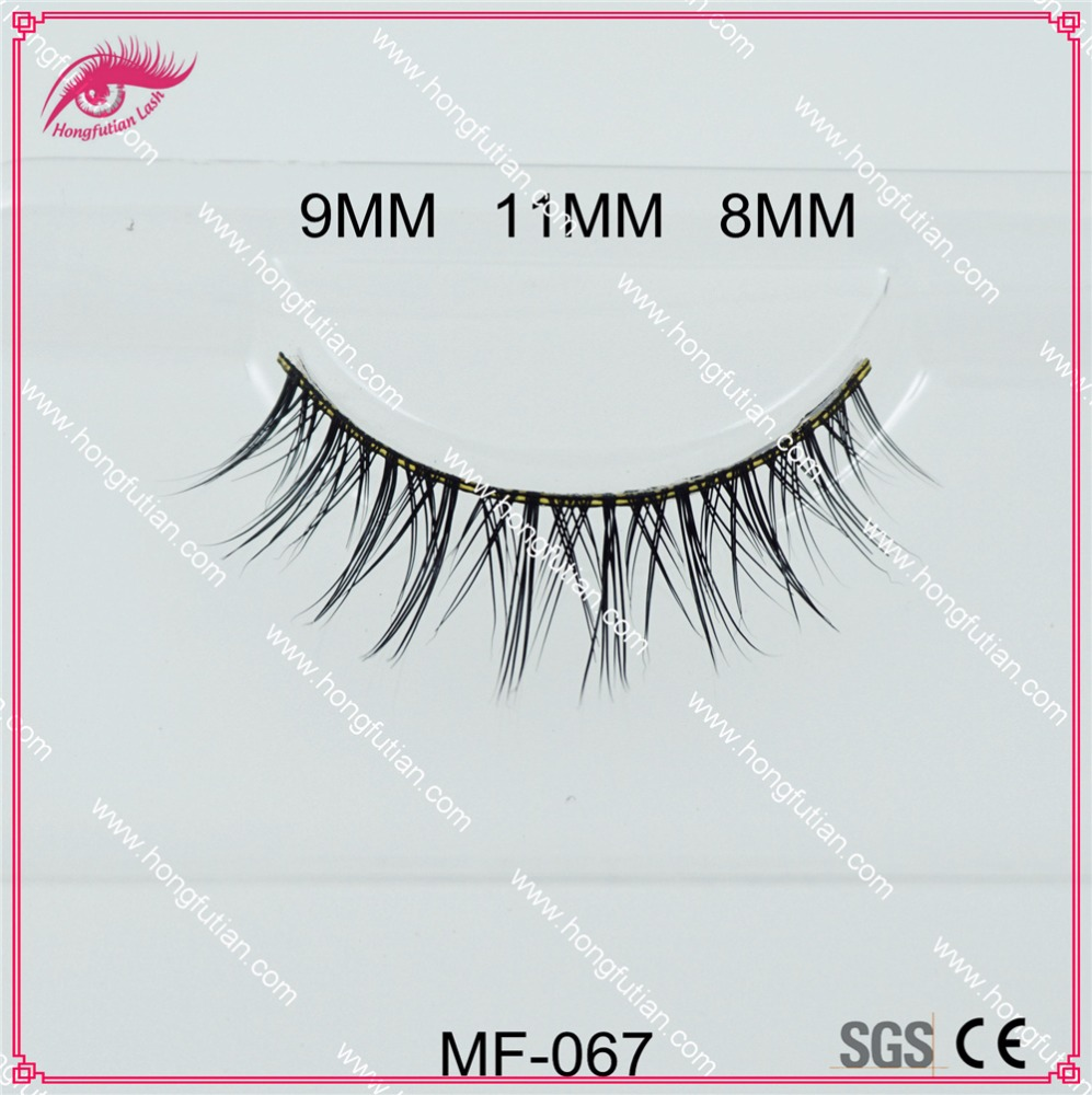 Fur material wholesale mink lashes with customized logo packaging