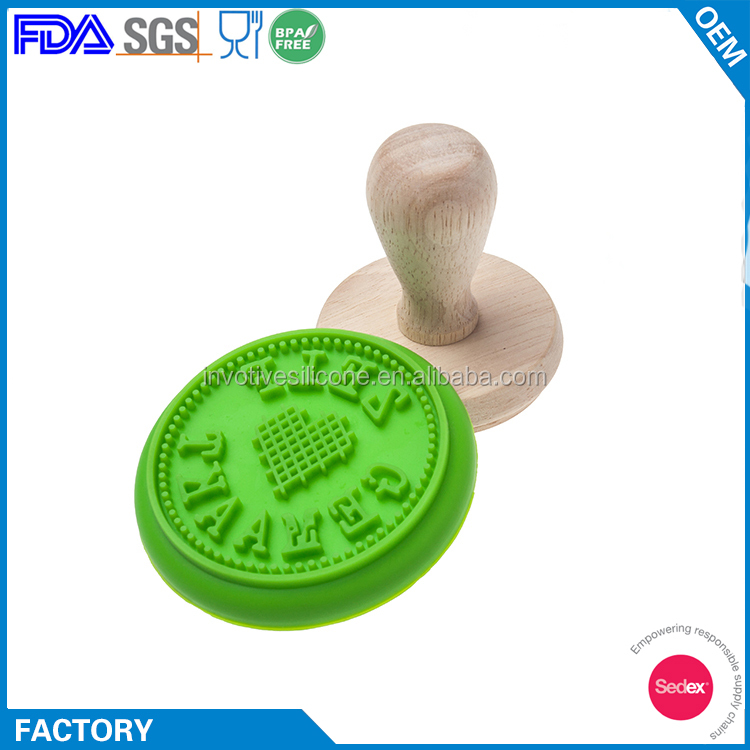 Custom Design Silicone Cookie Stamp Press