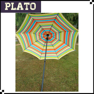 High quality fashional umbrella outdoor beach rainbow umbrella for sale