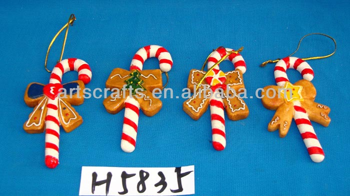 Resin hanging ornaments for 2014 Christmas decoration