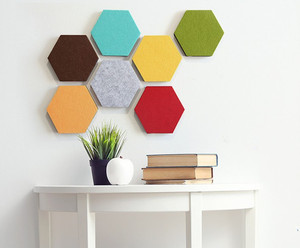 Colorful Foam Wall Tiles Hexagon Cork Board Pin Board