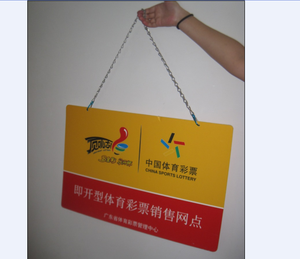hanging sign board for advertising
