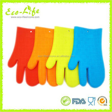 180G Thicker 3 Fingers Kitchen Oven Silicone Grip Mitt, Silicone Gloves