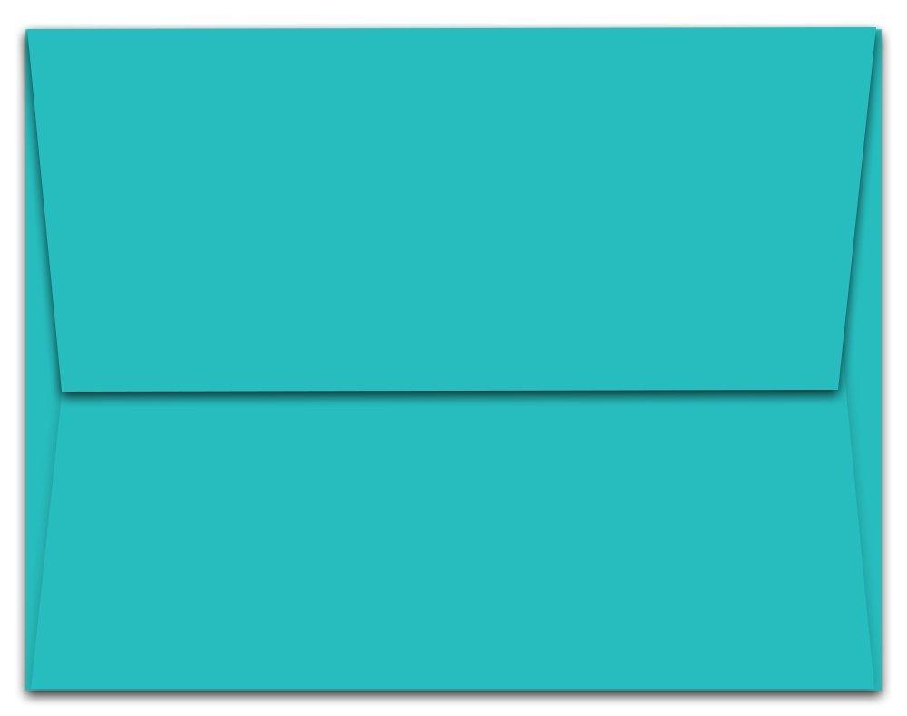 """1,000 Aqua Blue Ocean A7 Envelopes - 7.25"""" x 5.25"""" - Square Flap"""