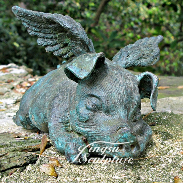 Wholesale Bronze Modern Flying Pig Art Sculpture - Buy ...