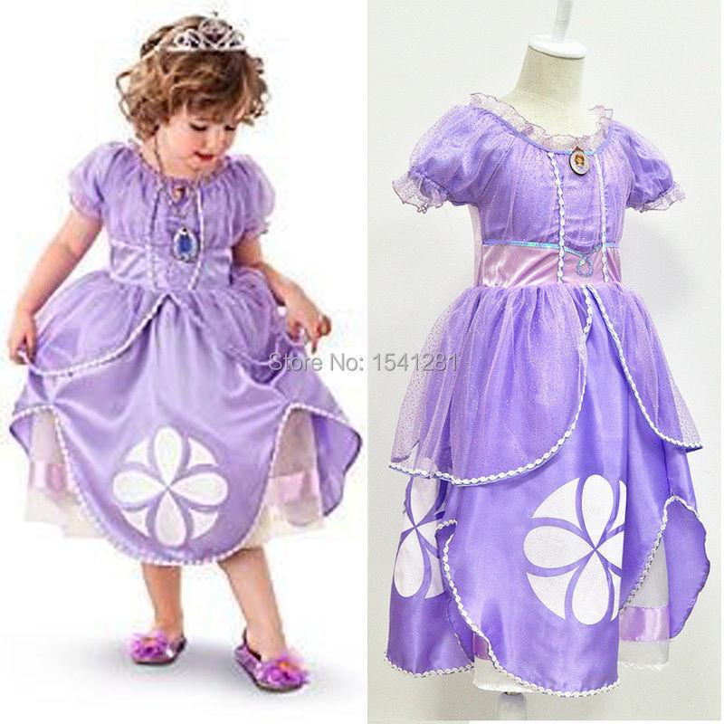 Sofia Princess Dress Kids Cosplay Costumes Girls New Arrival: New Arrive Fancy Kids Baby Girls Dress Purple Sofia