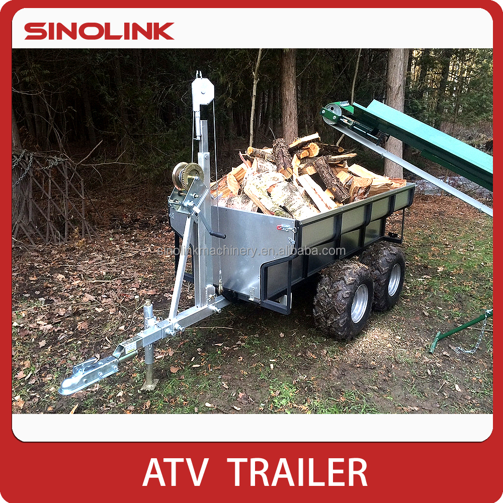 1 Ton ATV Wood Trailer With Vertical Crane Model TB1000(A)