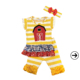 Wholesale girls clothes icing ruffle baby girls clothing sets horse embroidery girls boutique outfit