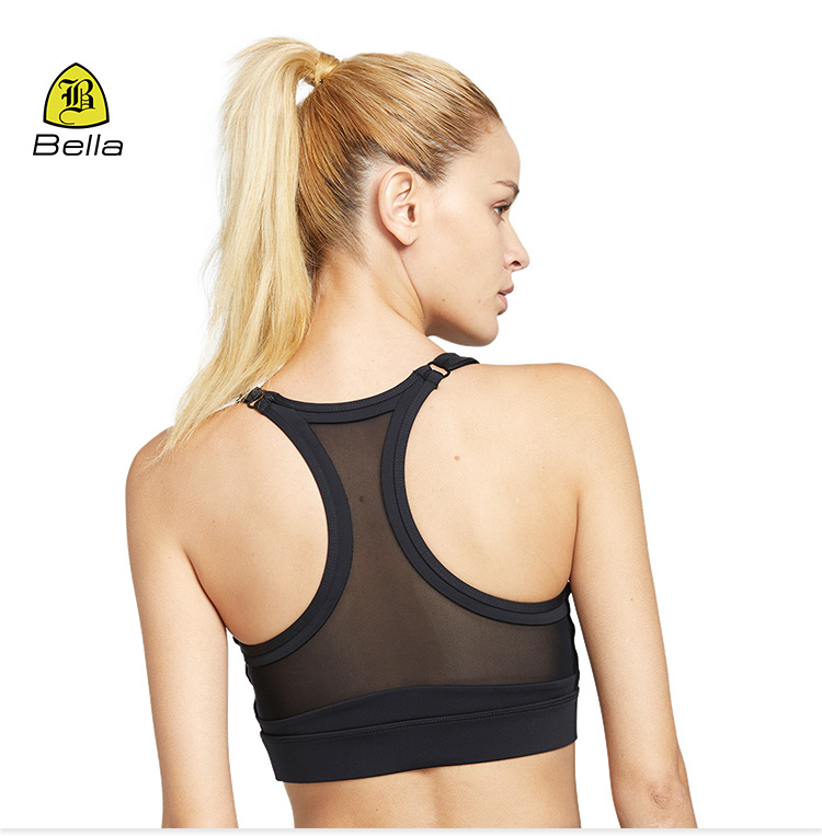 Custom design sexy girls high quality private label push up gym yoga fitness tops sports bra for female
