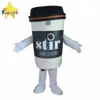 Funtoys Custom Adult Coffee Cup Mascot Costume For Advertising