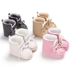 Fashion Hot Selling Winter Boots Leather & Fabric Boots Infant Baby Newborn Boy Girls Shoes
