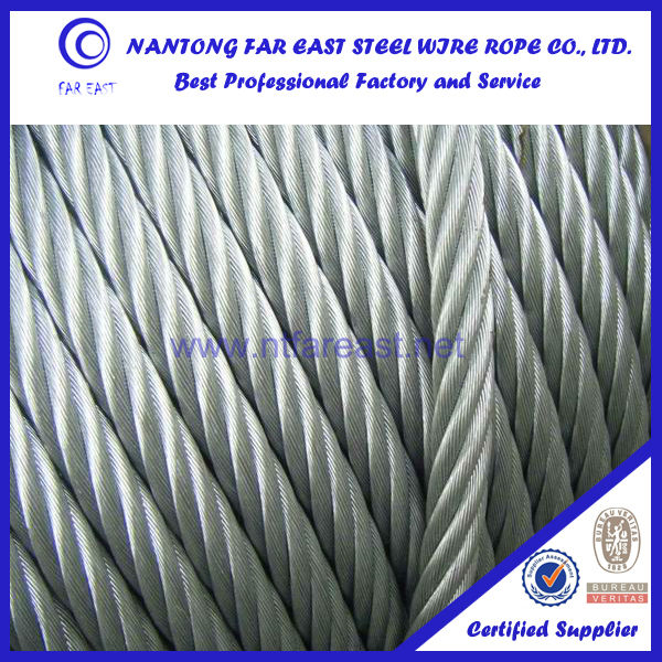 flexible 6x19+FC galvanized steel wire rope price steel wire rope manufacturer