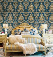 Sex Vintage Damask Non-woven Living Room pasting machines wallpaper
