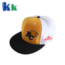 Cotton material cap 3D embroidery customized logo baseball hat with plastic close