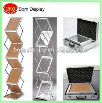 Folding 400 Layers Strong Aluminum Case Aluminum Frame Acrylic A40 Size Unique Foldable Magazine Holder