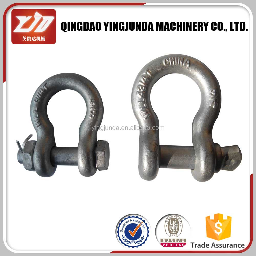 2013 rigging U.S. bolt type anchor shackle marine hardware stainless steel shackle small d shackle