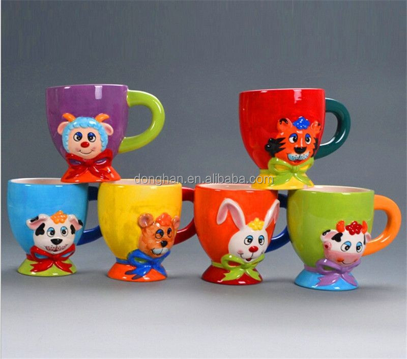 neck bowknot animal embossed cup