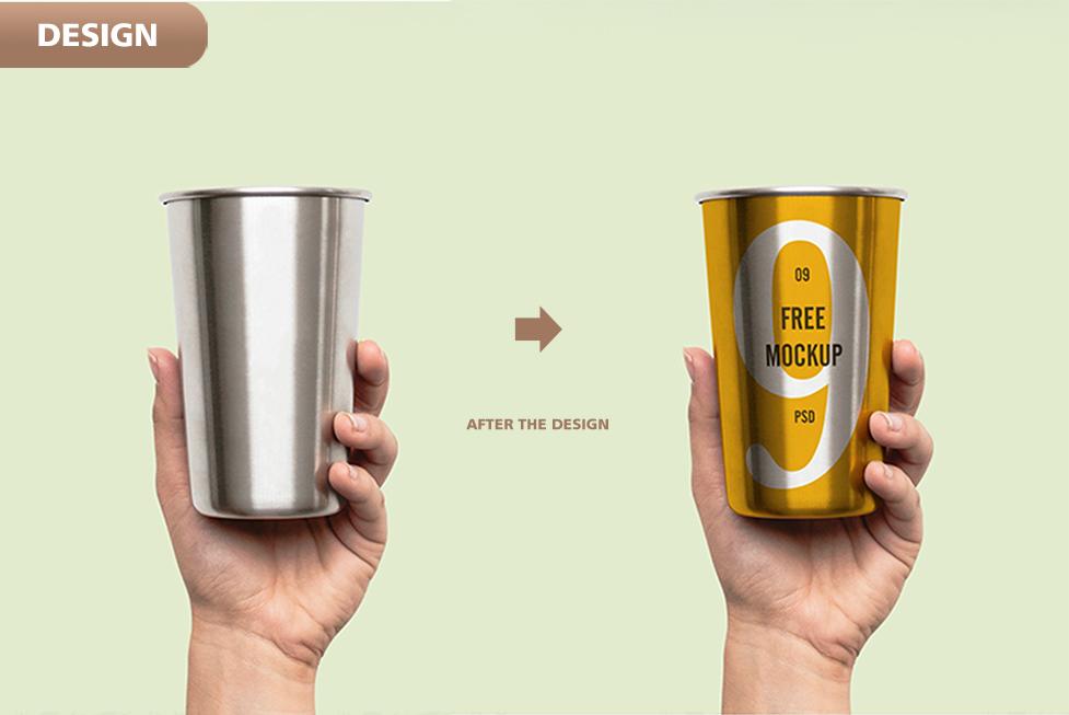 Designed Aluminum Cup