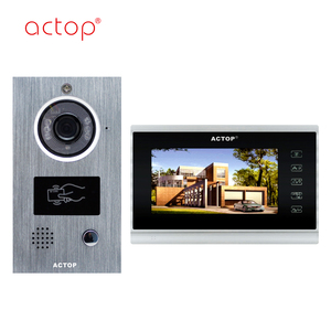 2016 keyless entry visual intercom system 7 inch ip competition video door phone