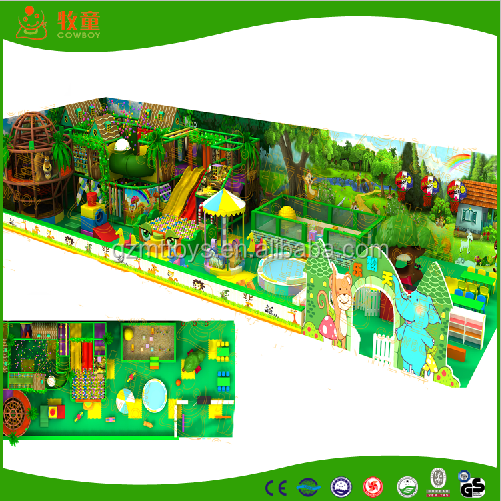 2016 shopping mall commercial functional ocean kids playground maze with misery and specific design