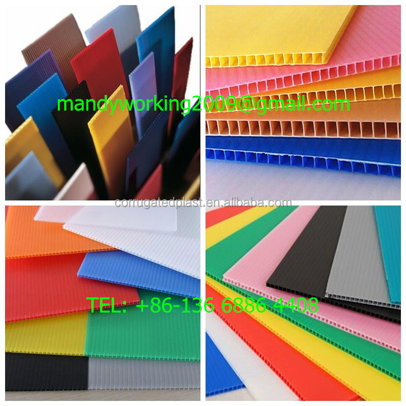 Environment friendly PP material PP corrugated plastic sheet