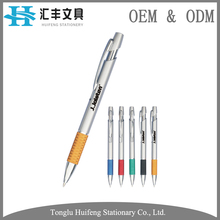 HF5276B OEM new design best quality black logo touch metal ball pen for signing