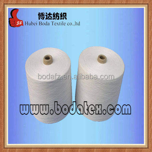 100% spun polyester spun yarn 30s in raw white