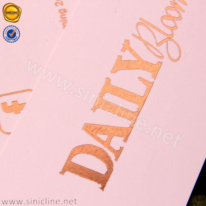 Sinicline पागल थोक ब्रांडिंग नई कपड़ों लटका टैग गुलाब सोने की पन्नी लोगो कस्टम hangtags