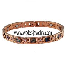 China Cheap Wholesale Sunshine rose plating magnetic health care stainless steel beautiful women bracelets