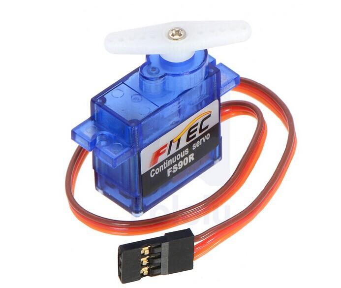 Fitec fs90r micro 360 degree continuous rotation servo 9g Servo motor 360 degrees arduino