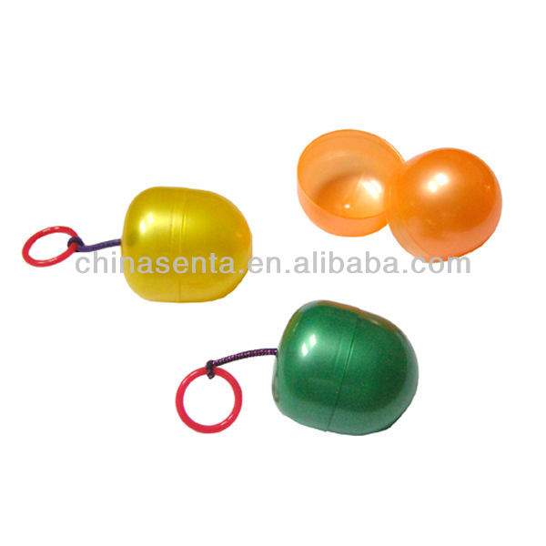 clear color egg-shaped soft pp case