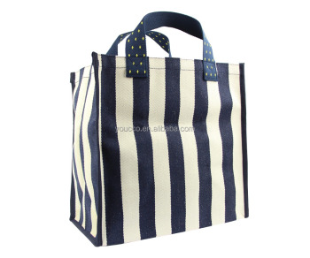 Custom Made Eco Striped Canvas Tote Bags For Daily Used Bag Product On Alibaba