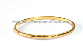 0ee885f6880 2 MM,Gold plated bangle, Machine cut bangles, fashion bangle, Designer &  Fancy bangle., View new design gold bangles, DVNGROUP Product Details from  ...