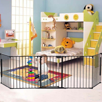 High Quality Folding Baby Playpen Safety Gate Pet Fence with 5 Panels