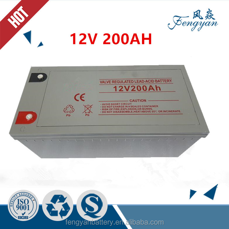 maintenance free sealed gel battery 12v 200ah solar battery for solar inverter