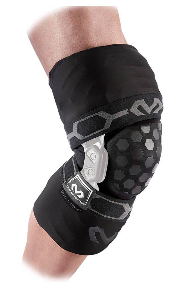 d73e8f1e5f Get Quotations · McDavid Bio-Logix Knee Brace Padded Sleeve - Black - Left  - MD