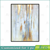 Hand Painted Canvas Abstract Oil Painting with Gold Leaf
