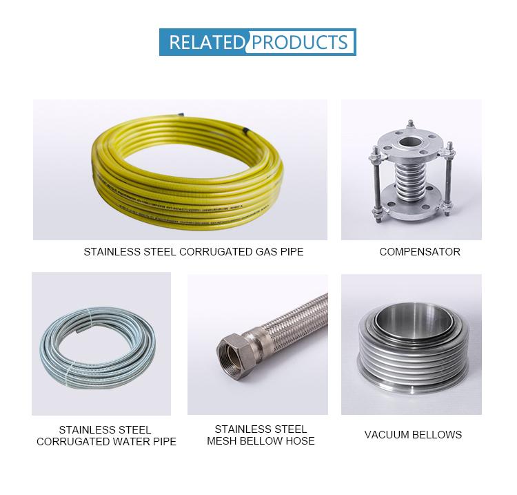 Mangueira / tubulação / tubo flexíveis do metal ondulado de aço inoxidável 304