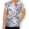white jungle full print polyester t shirt wholesale
