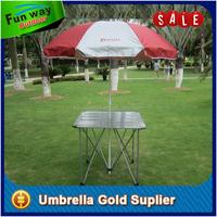 3 Layer windproof frame outdoor table chair with umbrella, branding garden patio umbrella