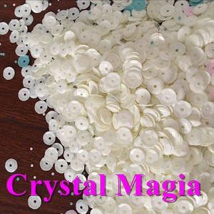 Big size PVC PET Loose bulk spangle beads sequin material