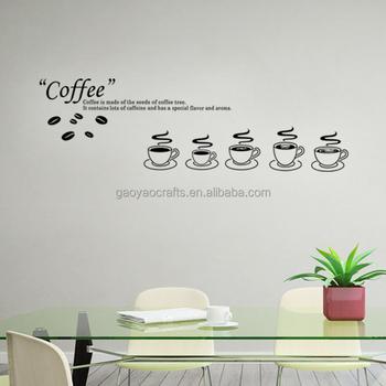 Décor à La Maison Café Amovible Stickers Muraux Cuisine Tasse à Thé Placard Décoratif Autocollants Peintures Murales Buy Stickers Muraux Amovibles