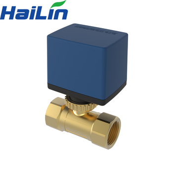 China hailin electric actuated floating Ball Valves For air conditioning