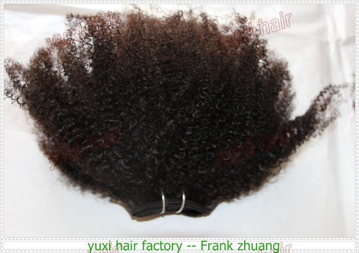 Instock Top selling Real Virgin Mongolian Afro kinky Curly Human hair