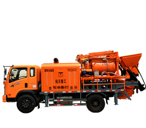 New type truck mounted concrete mixer pump with Diesel electric dual purpose