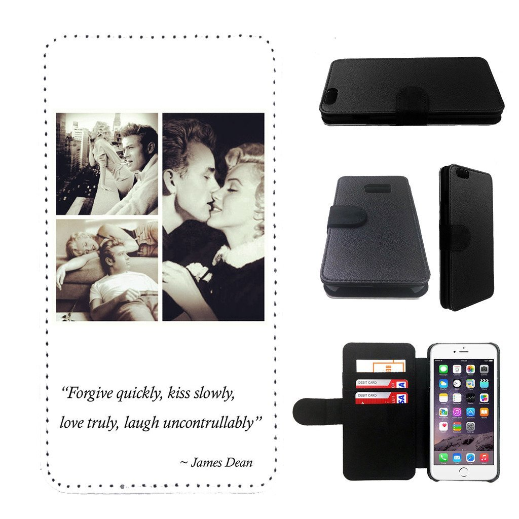 James Dean Samsung Galaxy note 4 wallet leather case, galalxy note 4 wallet case, galaxy s5 flip case, black